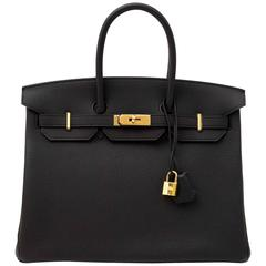 Hermes Birkin 35 Togo Noir GHW