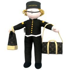 Louis Vuitton Plush Groom Doll Bellboy Stuffed Bag VIP Customer Limited Rare