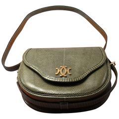 """Hermès Paris """"Lift """" Vintage Bag in Lézard / Rare model and rare color"""