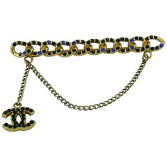 Chanel Jewelled Chain Brooch CC Charm Fall 2001