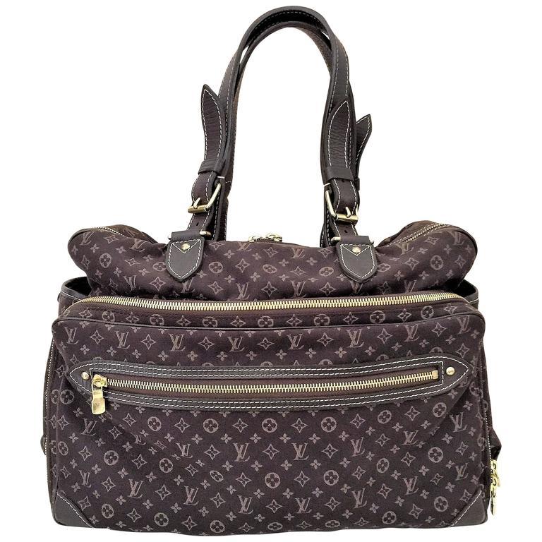 louis vuitton mini lin sac a langer diaper shoulder bag ebene for sale at 1stdibs. Black Bedroom Furniture Sets. Home Design Ideas