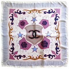 20th Century Chanel Western Silk Scarf