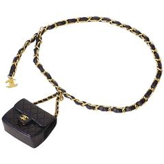 Chanel Chain Belt With Micro Mini Classic Bag Charm 1990s