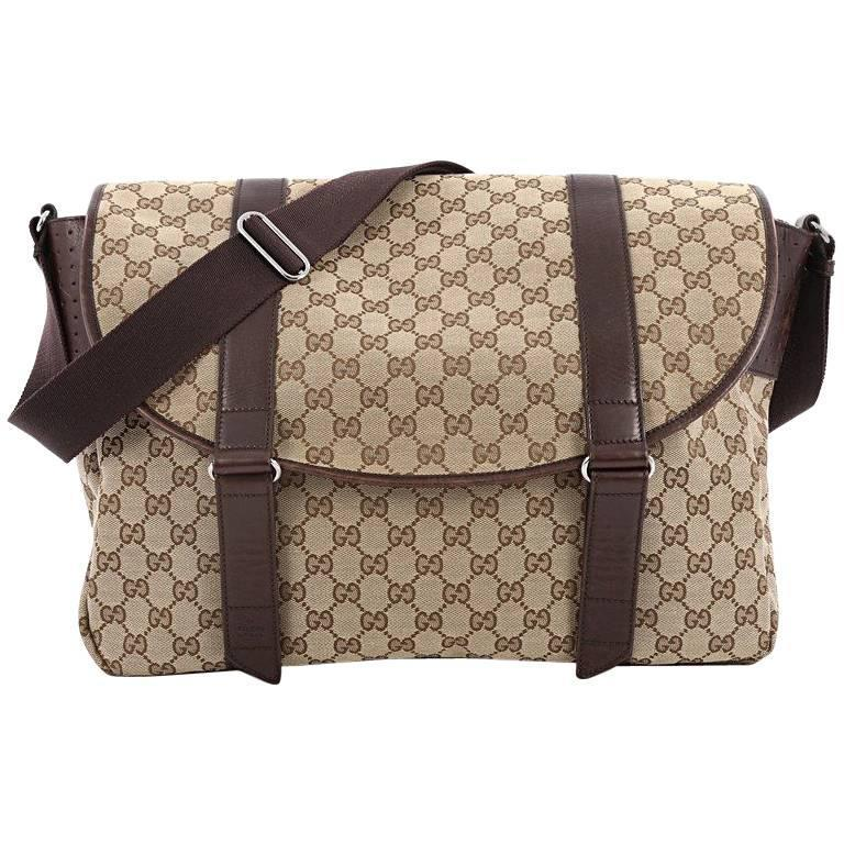 Gucci Belted Messenger GG Canvas Large at 1stdibs
