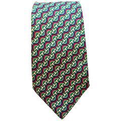 Vintage Hermes Tie - 100% Silk