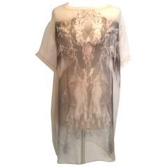 Valentino Printed Silk Chiffon Mini Dress