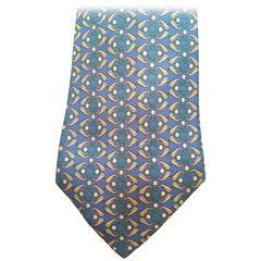 Hermes Tie - Golf Theme - 100% Silk