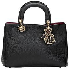 2010s Dior Black Grained Calfskin Small Diorissimo