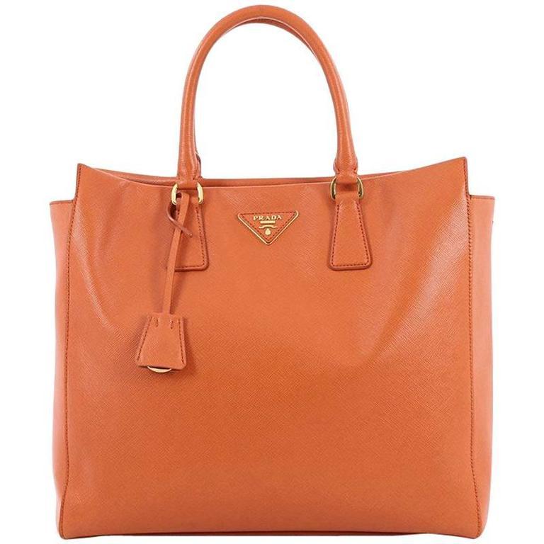 Prada Convertible Open Tote Saffiano Leather Medium