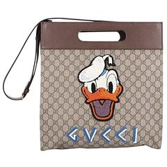 Gucci Donald Duck Soft Tote Embroidered GG Coated Canvas