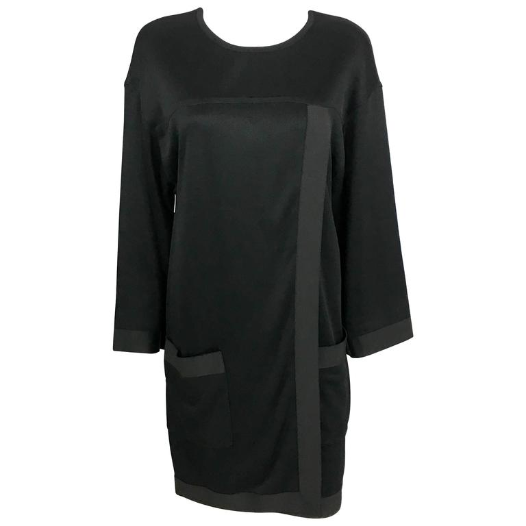 1990s Chanel Black Jumper Dress