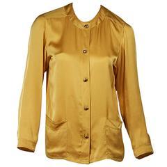 Marigold Vintage Chanel Silk Blouse