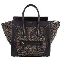 Celine Luggage Handbag Tweed Mini