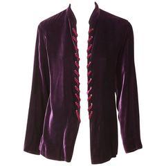 Yves Saint Laurent  Aubergine Velvet Jacket