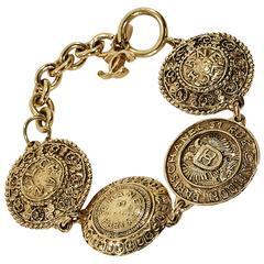 Goldtone Vintage Chanel Medallion Bracelet