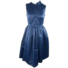 MARC by MARC JACOBS Size 2 Blue Nylon MA-1 2015 Resort Cocktail Dress