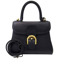 Delvaux Dark Blue Leather Brillant PM + Strap