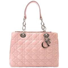 "Dior Pink Patent ""Lady Dior"" Medium"