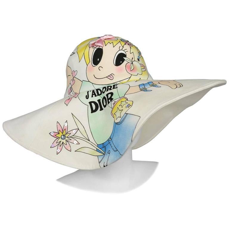 Christian Dior Cartoon Hat For Sale
