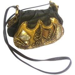 Avant Garde Brutalist Mixed Metal Artisan Handbag ca 1970s