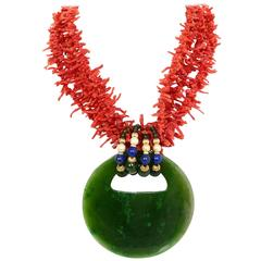 Evelyn Doura Coral Pendant Necklace