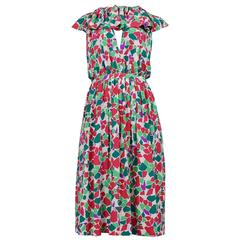 Yves Saint Laurent Abstract Keyhole Dress