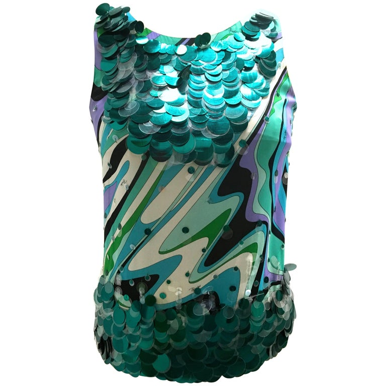Rare Emilio Pucci Elaborate Sleeveless Top
