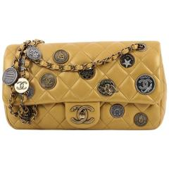 Chanel Coin Medallion Flap Bag Quilted Lambskin Medium
