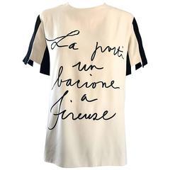 """Rare Vintage Moschino Couture """" La Porti un Bacione a Firenze Tunic Top Blouse"""
