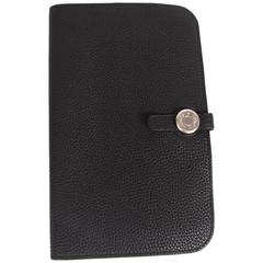 Hermes Dogon Combined Wallet Togo Leather - black