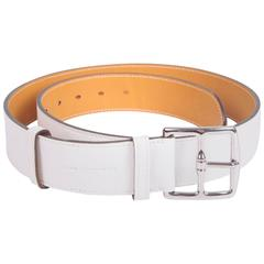 Hermes Etriviere 40 Unisex Taurillon Clemence Belt - white