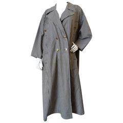 1980s Chanel Gingham Trench Coat