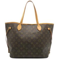 Louis Vuitton Neverfull MM Brown Monogram Canvas Tote Bag