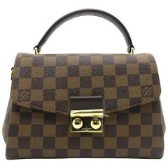 Louis Vuitton Croisette Brown Damier Ebene Canvas Top Handle Bag
