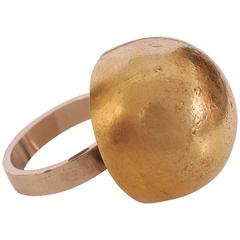 Hans Hansen Gold & Sterling Silver Dome Ring