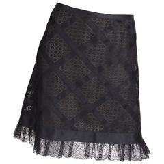 Chanel Lace Skirt - black