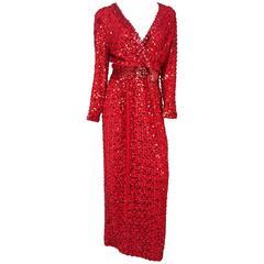 70s Lilli Diamond Red Sequin Dress