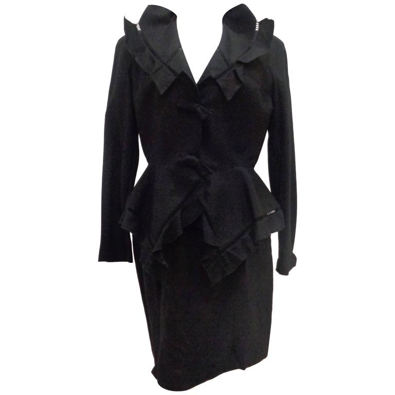 Thierry Mugler Black skirt suit 1