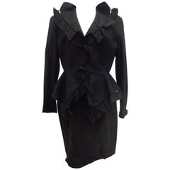 Thierry Mugler Black skirt suit