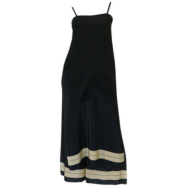1960s/Early 1970s Sonia Rykiel Silk Split Pant and Tunic Set