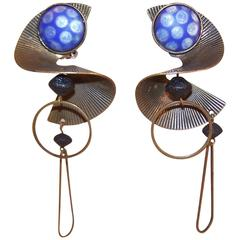 Astral Style Vintage Artisan Mobile Copper Earrings