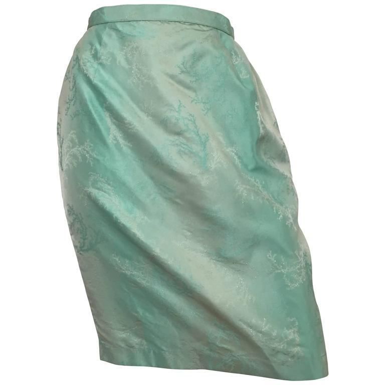 Thierry Mugler Iridescent Aqua Skirt Size 4/6.