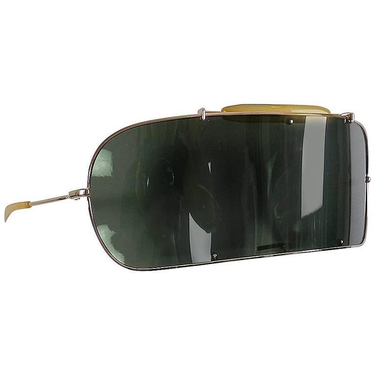 Maison martin margiela visor sunglasses in case at 1stdibs for Martin margiela glasses