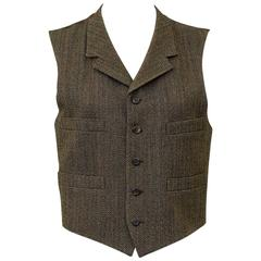 1980's Ralph Lauren Purple Label Vest