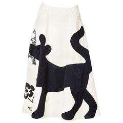 Castelbajac Whimsical Embroidered and Applique Skirt