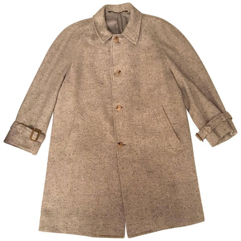 Hermes Wool Coat - Men's Vintage 1980's