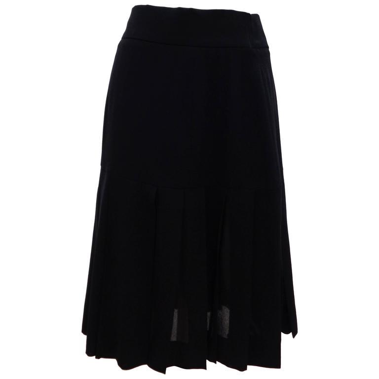 Chanel Boutique Black Skirt
