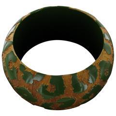 LOUIS VUITTON Bracelet 'Camouflage' in wood
