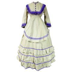 Promenade Challis Crinoline Dress From 1860