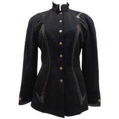 Thierry Mugler Trademark Black Jacket